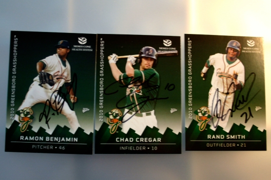 Autographs: Ramon Benjamin, Chad Cregar, Rand Smith