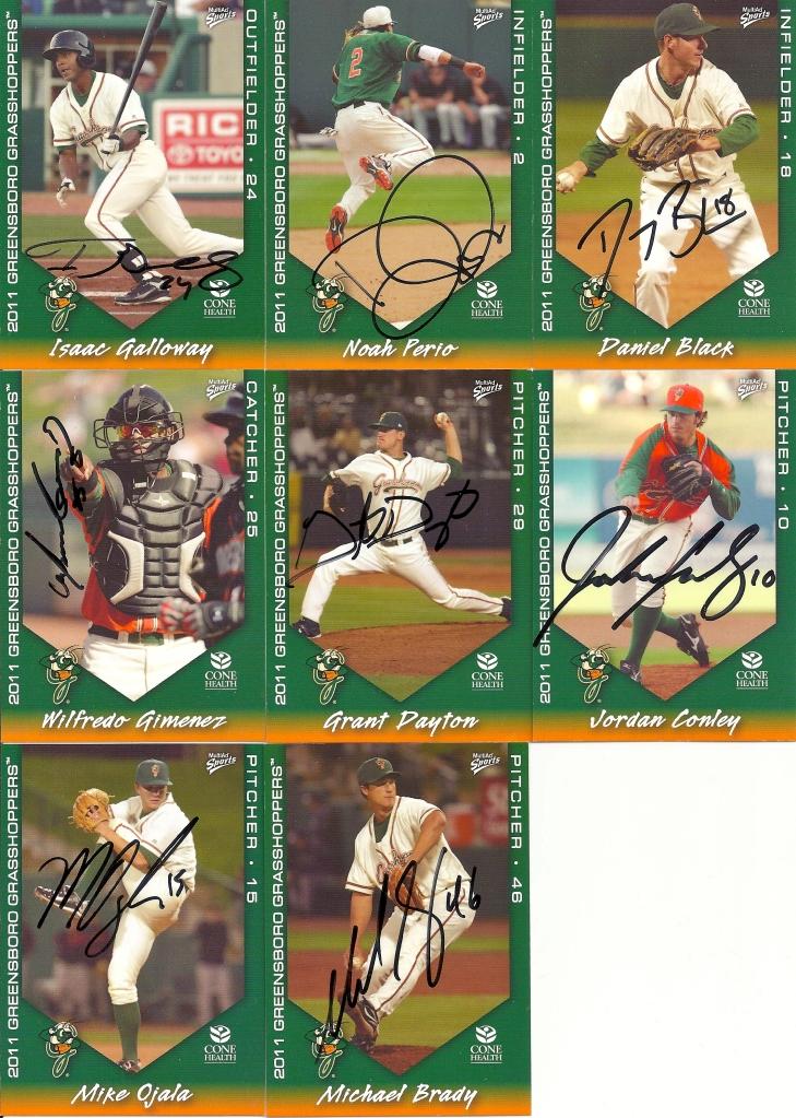Autographs: Isaac Galloway, Noah Perio, Danny Black, Wilfredo Gimenez, Grant Dayton, Jordan Conley, Mike Ojala, Michael Brady