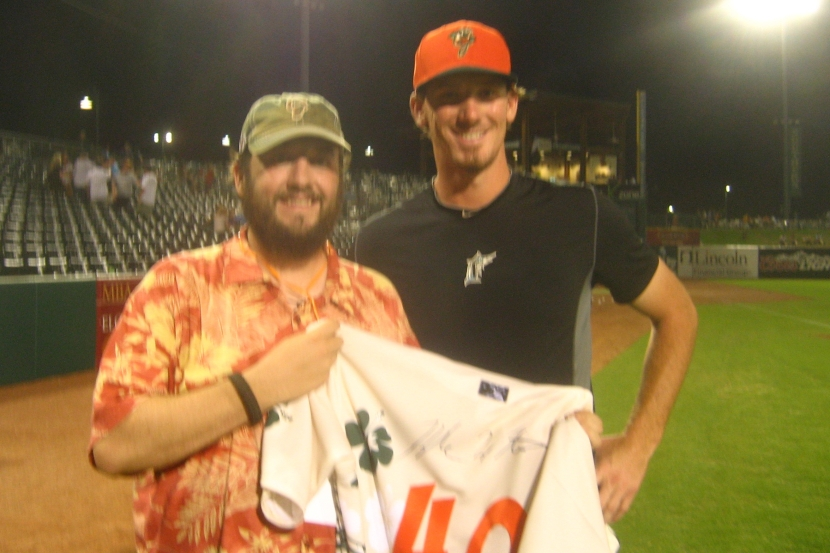 The Hoppers Fan and Kyle Winters After the Game