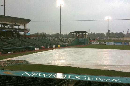 Raining Hard, Tarp On The Field