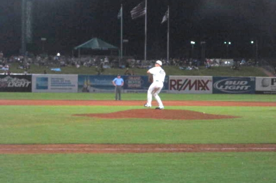 Michael Brady pitching
