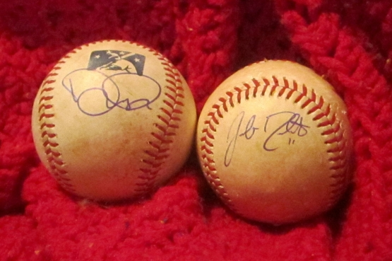 Autographs: Noah Perio and Jacob Realmuto