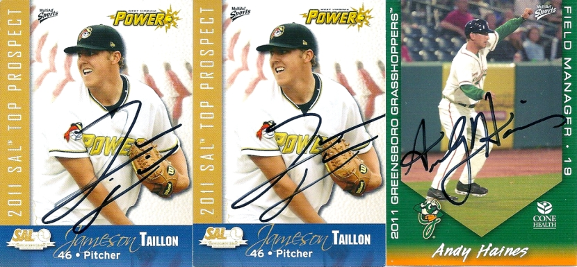 Autographs: Jameson Taillon, Andy Haines