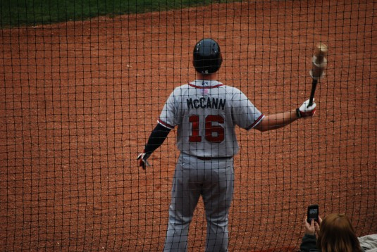 Brian McCann, on deck. Photo Credit: Pattrick Abbott